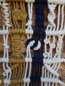 wall hanging modern macrame and fibre art Adelaide Australia knots