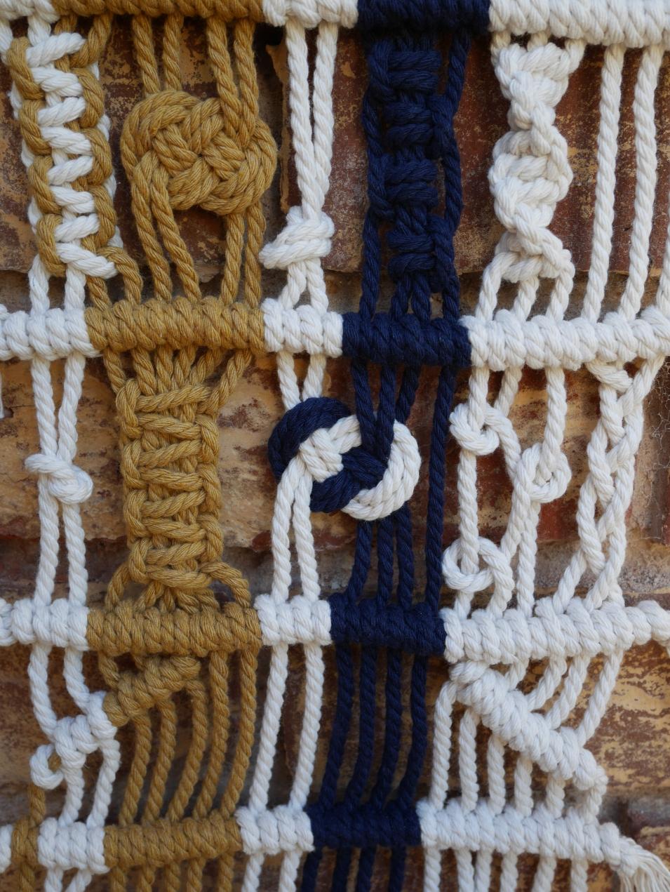 wall hanging modern macrame and fibre art Adelaide Australia knots