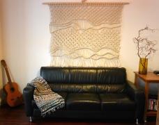 wall hanging modern macrame and fibre art Adelaide Australia