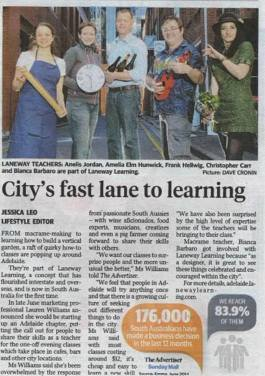 The Advertiser_Laneway Learning