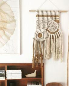 macrame fibre art weaving Bianca Barbaro interior design wall hanging