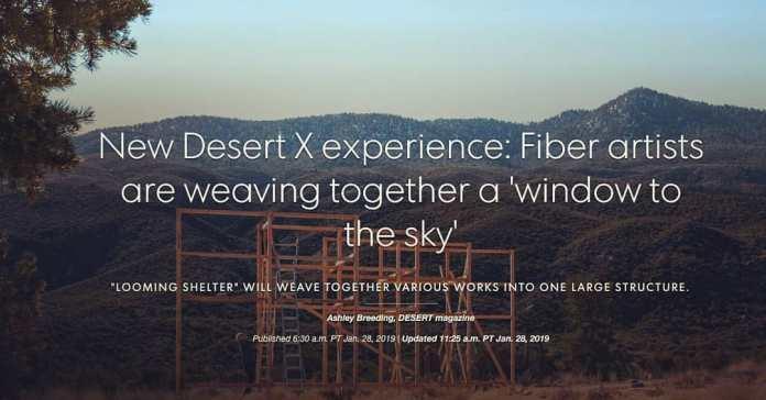 Desert Sun article Desert X 2019